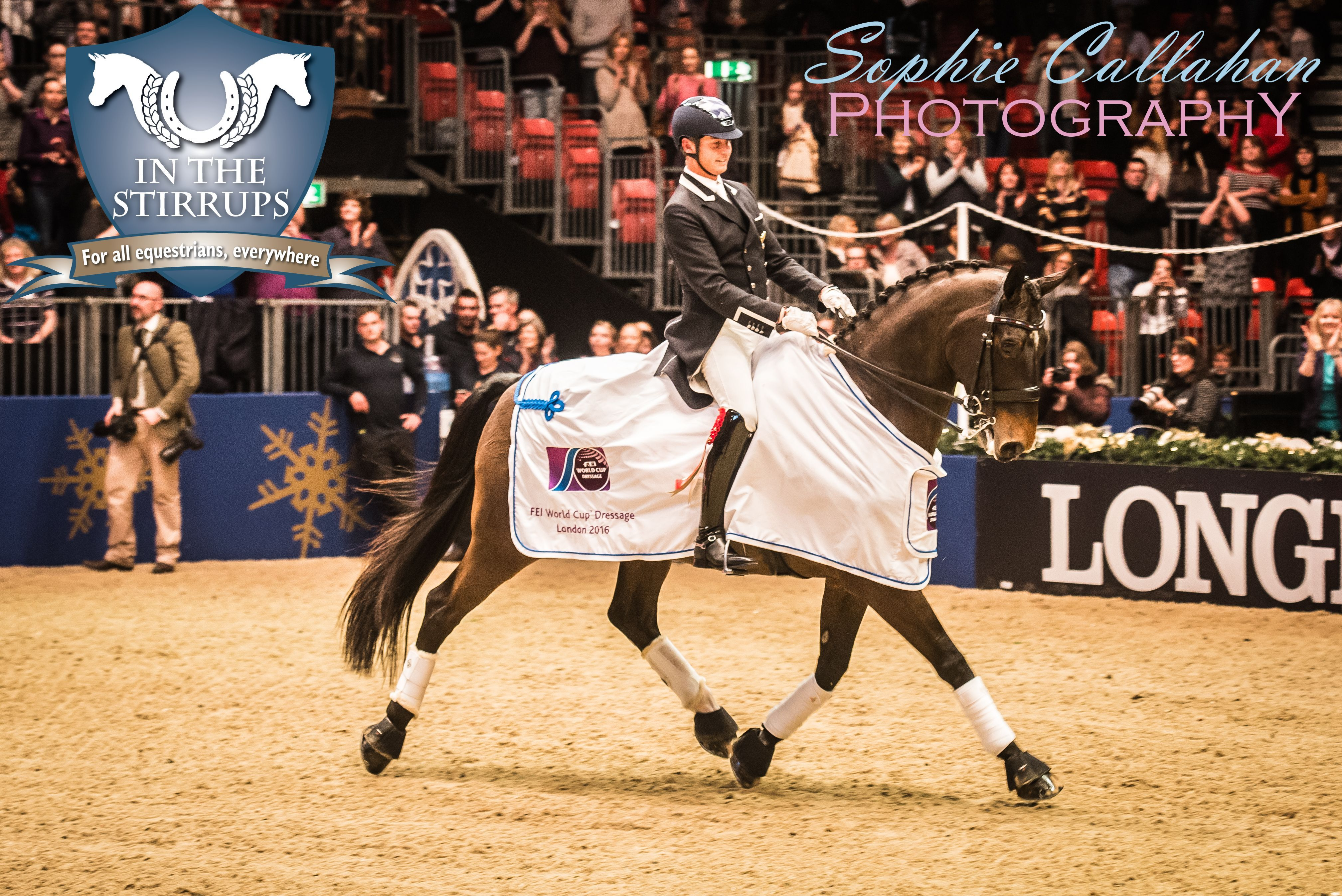 Carl Hester and Nip Tuck, Olympia 2016, by Specialist UK Equine Portrait Photographer, Essex I equine photography equine blogger