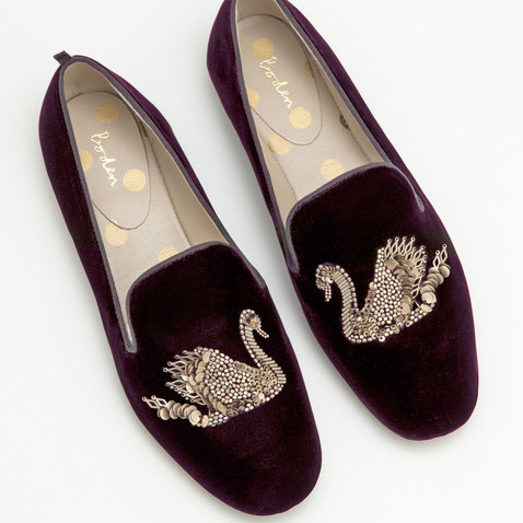 VIOLETTA EMBELLISHED SLIPPERS, From Boden