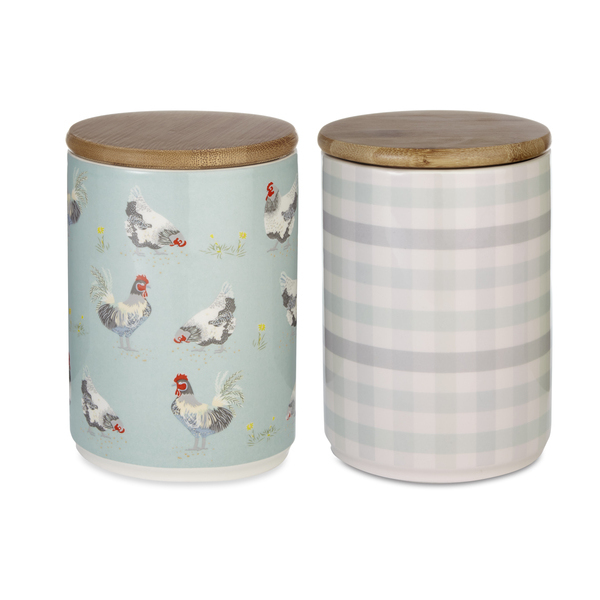 Storage Jars in Chicken and Gingham