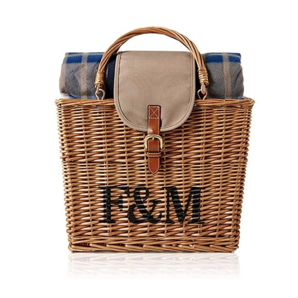 Fortnum's Wicker Hamper with Picnic Rug