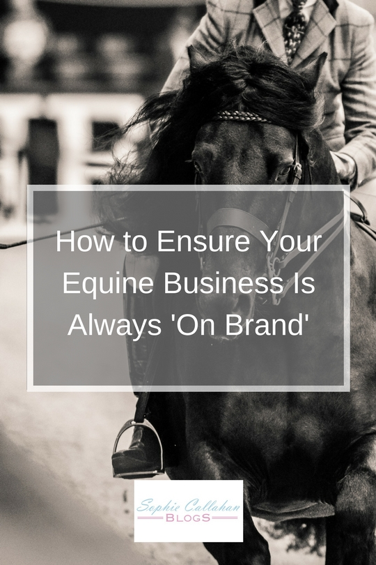 How to Ensure Your Equine Business is Always On Brand - Equine Photographer and Country Lifestyle Blogger I via sophiecallahanblog.com I #lifestyleblogger #photography #countrylife